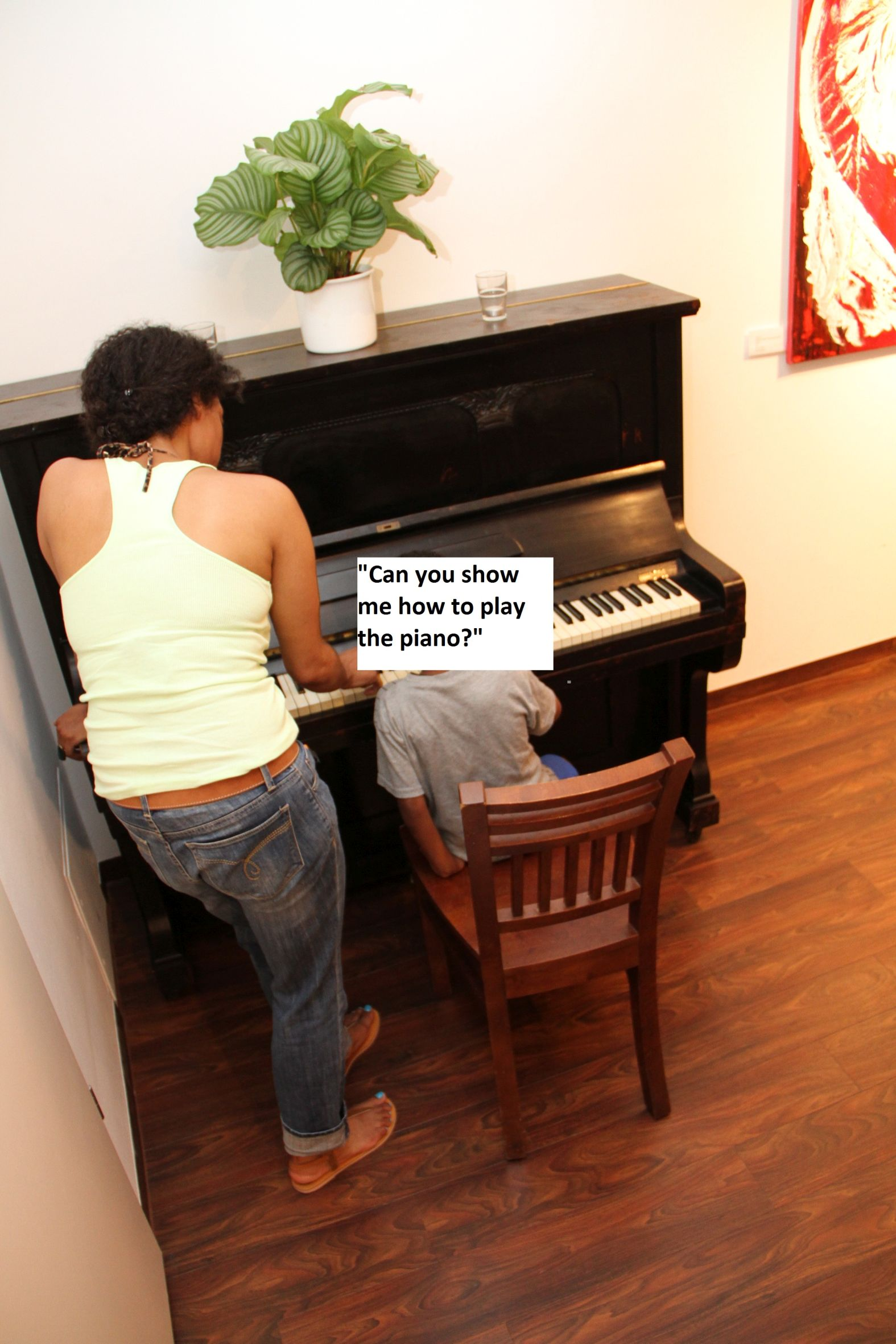 show me how to play the piano