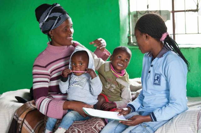 The Mentor Mother program trains women to provide health information and conduct home visits to pregnant women and to help the mothers raise healthier children. )Credit: Image courtesy of University of California, Los Angeles (UCLA), Health Sciences)