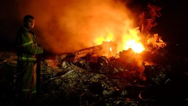 US and Ukraine officials say they believe the plane was shot down photo: AFP