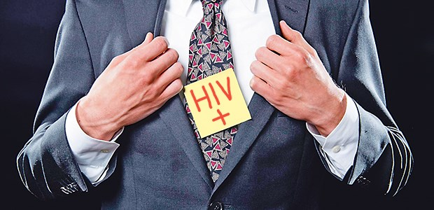 Warning in red letters: In offices and clinics files or rooms of HIV-positive patients are partially marked. © Getty Images / iStockphoto