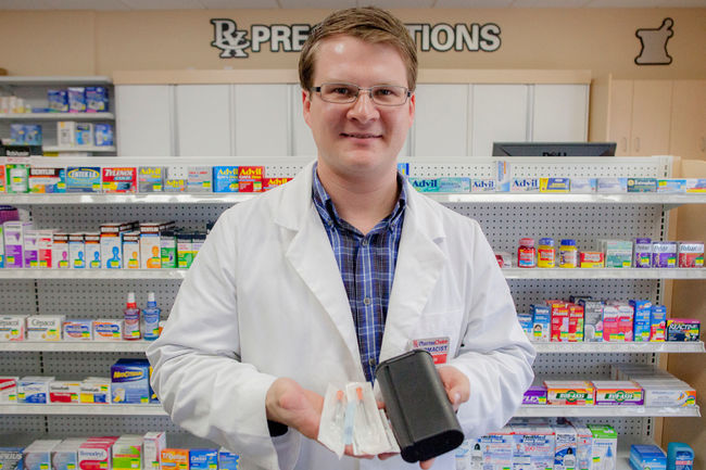Man in pharmacy