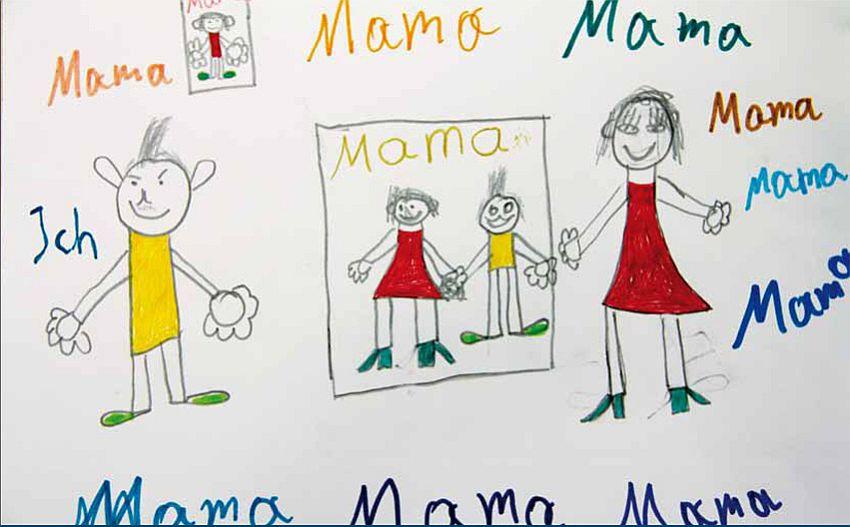"""Zeichnung von Petes Sohn für seine Mama: """"Du bist die beste Mutter der Welt!"""" (Foto: DAH)"""