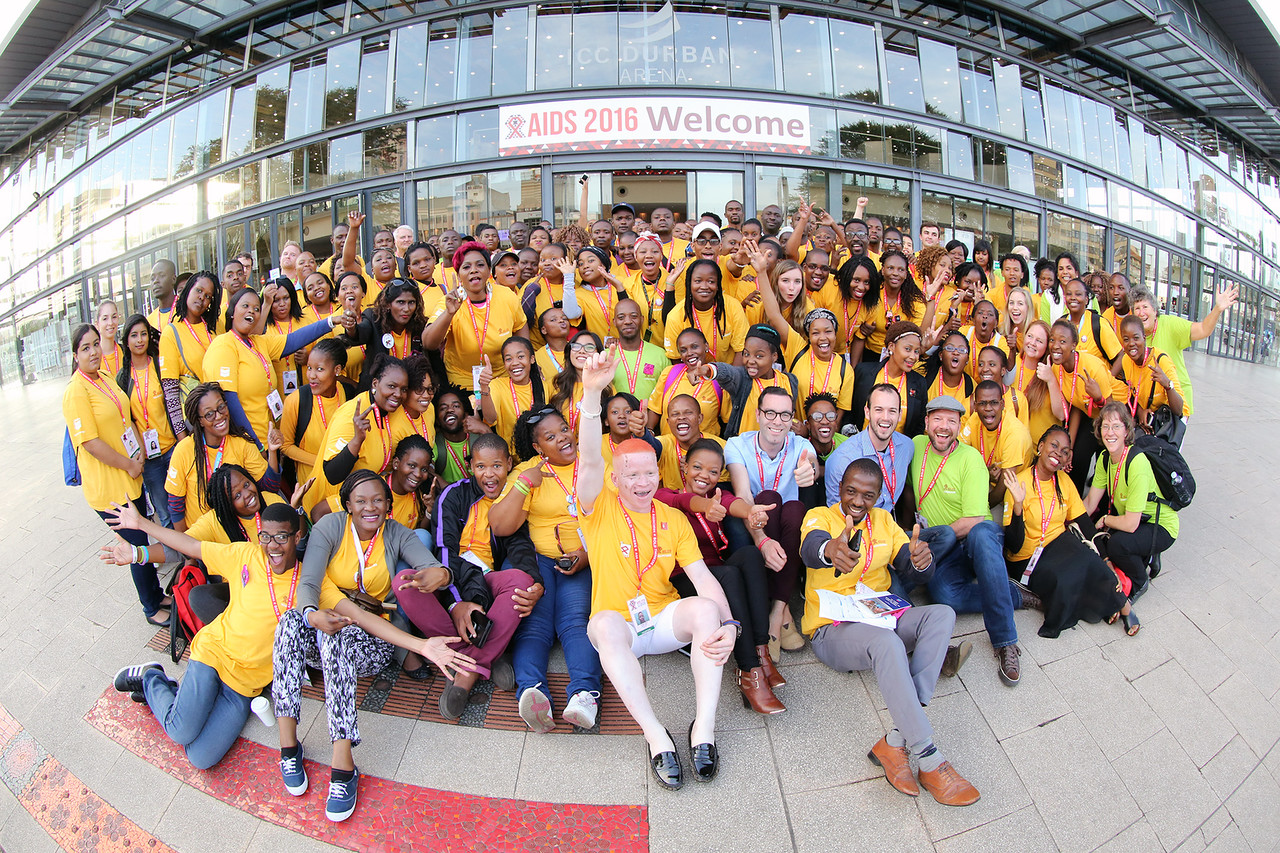 21st International AIDS Conference (AIDS 2016), Durban, South Africa. Thursday 21 July : Venue -Durban ICC Volunteer's of the 21st International AIDS Conference in Durban 2016 Photo©International AIDS Society/Abhi Indrarajan